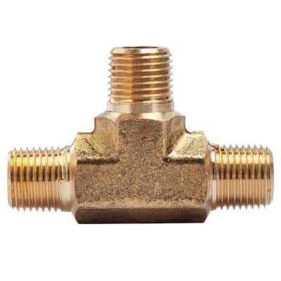 1/8 in. MIP Brass Pipe Tee Fitting (5-Pack)