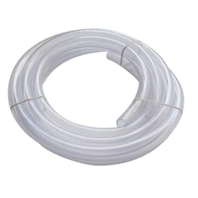 5/8 in. O.D. x 1/2 in. I.D. x 10 ft. Clear PVC Vinyl Tube