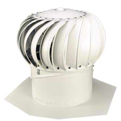12 in. White Aluminum Internally Braced Whirlybird Wind Turbine