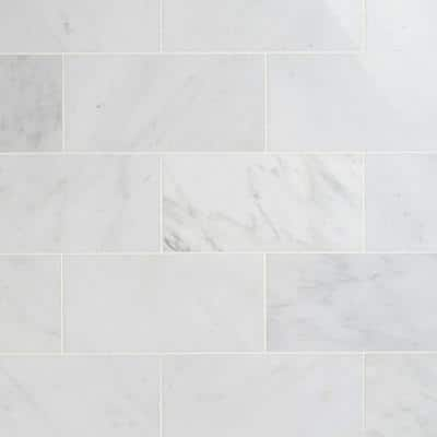Oriental 6 in. x 12 in. x 8 mm Marble Floor and Wall Tile (5 sq.ft./Box)