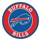 NFL Buffalo Bills Red 2 ft. Round Area Rug