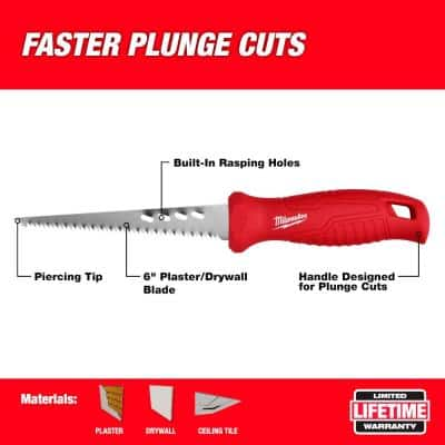Rasping Jab Saw with 6 in. Drywall Blade