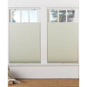 Perfect Lift Window Treatment Cut To Width Gray Cloud 1in Cordless Light Filter Top Down Bottom Up Cellular Shade 59in W X 64in L Qglg590640 The Home Depot