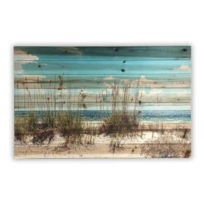 Sand Dunes Planked Wood Beach Nature Art Print 24 in. x 36 in.