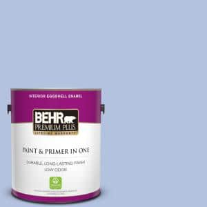 Behr Premium Plus 1 Gal M540 3 Eternal Elegance Eggshell Enamel Low Odor Interior Paint And Primer In One 205001 The Home Depot