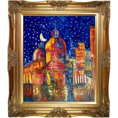 """""""Moon (Venice) II Reproduction with Victorian Gold"""" by Justyna Kopania FramedOil Painting 28 in. x 32 in."""