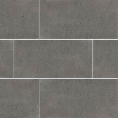 Beton Gris 12 in. x 24 in. Matte Porcelain Floor and Wall Tile (12 sq. ft./Case)