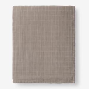 Gossamer Shale Solid Cotton King Woven Blanket