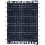 Life Styles Navy 50 in. x 60 in. Throw Pillow