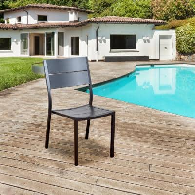 Bryant Side Chair Aluminum Outdoor Dining Chair (4-Pack)