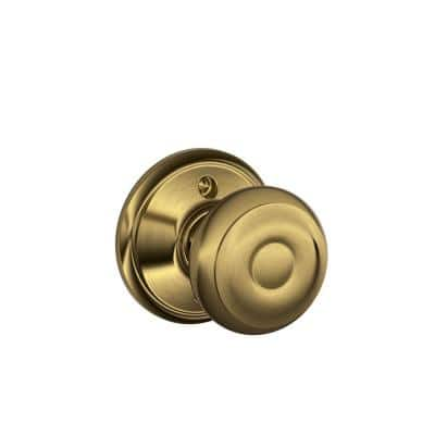 Georgian Antique Brass Dummy Door Knob