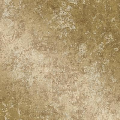 Distressed Gold Peel and Stick Wallpaper (Covers 56 sq. ft.)