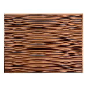 18.25 in. x 24.25 in. Waves Vinyl Backsplash Panel in Oil Rubbed Bronze (5-Pack)