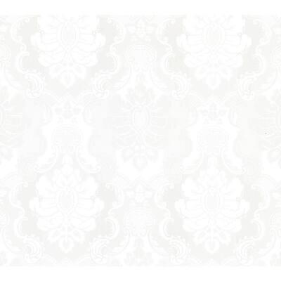 Juliet Off-White Damask Off-White Wallpaper Sample