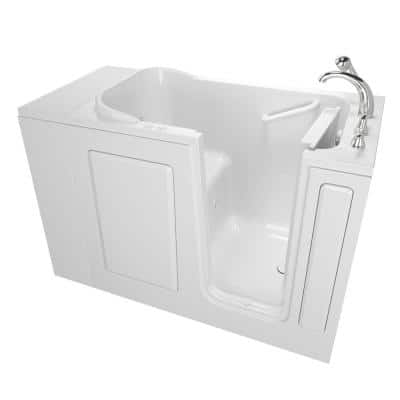 Value Series 48 in. Right Hand Walk-In Whirlpool and Air Bath Bathtub in White