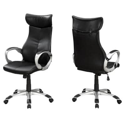 Jasmine 1-Piece Black and Silver Office Chair