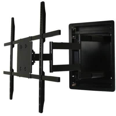 In Wall TV Mount, Recessed Articulating In Wall TV Mount For 42 To 80 in. TVs LCD, LED, or Plasma