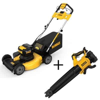 21.5 in. 20-Volt Li-Ion Cordless Battery Walk Behind Self Propelled Mower with 125 MPH 450 CFM 20-Volt Blower(Tool Only)