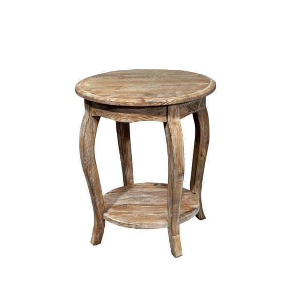 Alaterre Furniture - Rustic Driftwood Storage End Table