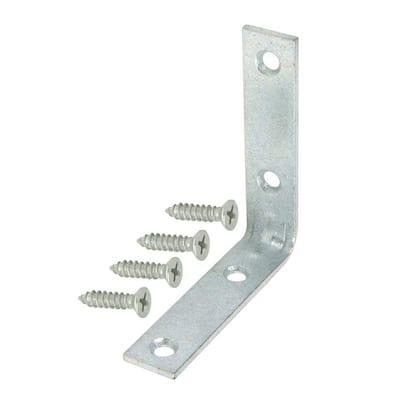 2-1/2 in. Galvanized Corner Braces (4-Pack)