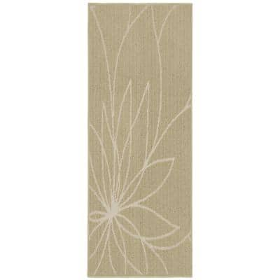 Garland Rug Grand Floral Tan Ivory 2 Ft X 5 Ft Area Rug Ll460w024060g3 The Home Depot