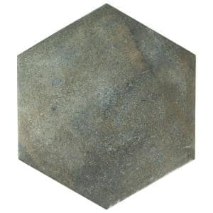 Boston Ferro Hex Ombra 14-1/8 in. x 16-1/4 in. Porcelain Floor and Wall Tile (11.05 sq. ft. / case)