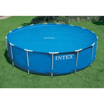 16 ft. Round Blue Above Ground Pool Solar Swimming Cover with Carry Bag