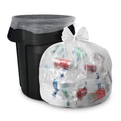55 Gal. 1.5 mil (eq) Heavy-Duty Clear Recycling Bags (100-Count)