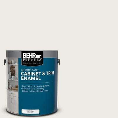 1 gal. #PPU7-12 Silky White Satin Enamel Interior Cabinet and Trim Paint