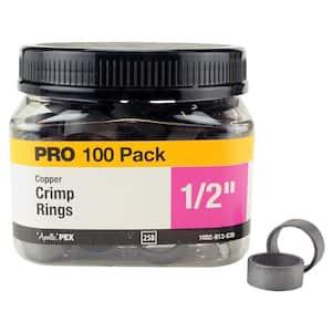 1/2 in. Copper Crimp Ring Pro Pack (100-Pack)
