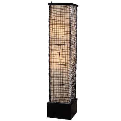 Trellis 51 in. Bronze Outdoor Floor Lamp