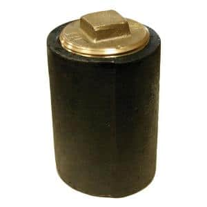 6 in. Plain End Cast Iron Cleanout Long Pattern with 5 in. Raised Head (Hex) Heavy Pattern Plug for DWV