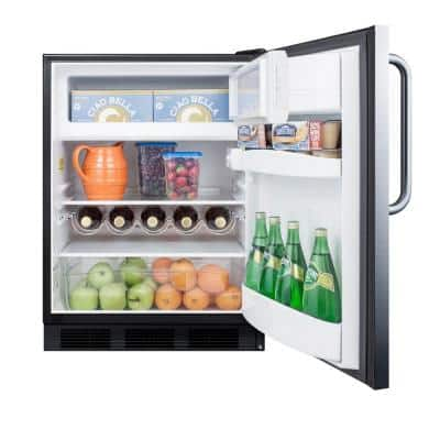 5.1 cu. ft. Mini Refrigerator with Freezer in Stainless Steel
