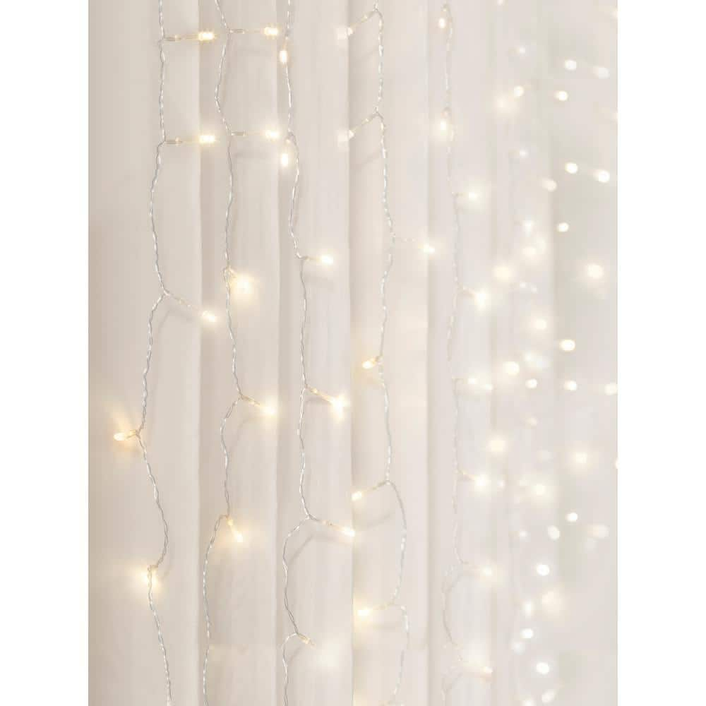 Merkury Innovations Battery Operated Cascading LED Curtain Lights Warm White