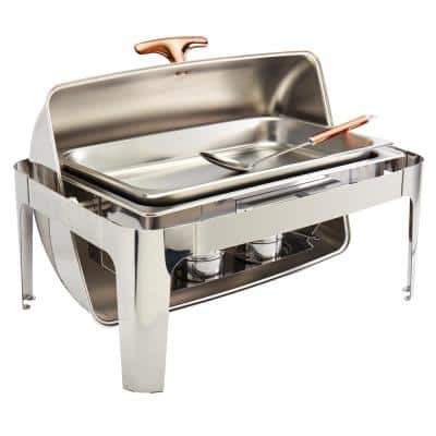 9.5 Qt Rectangular Roll Up Stainless Steel Chafing Dish (5-Piece)