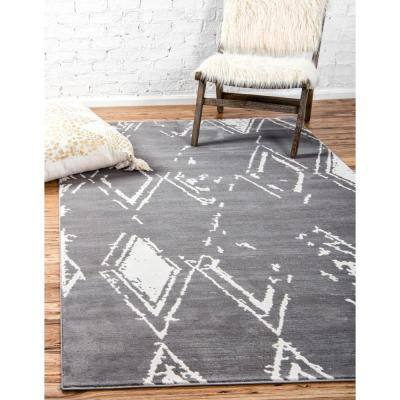 Uptown Collection Carnegie Hill Gray 8' 0 x 10' 0 Area Rug