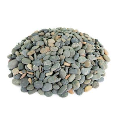 0.25 cu. ft. 1/2 in. to 1 in. Mixed Buttons Mexican Beach Pebble Smooth Round Rock for Garden and Landscape Design