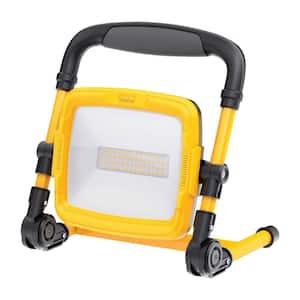 5000 Lumens ProSeries Ultra Bright Flood Weatherproof 5000K Plug-in Portable Foldable L-Stand LED Work Light (2-Pack)