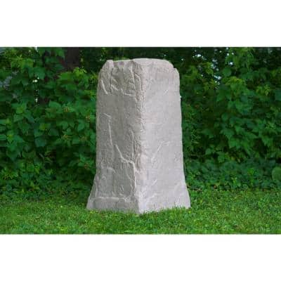 Emsco 36 3 4 In H X 18 In W X 19 In L Monolith Landscape Sandstone Resin Rock Utility Cover 2235 1 The Home Depot