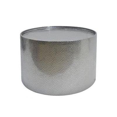 Braeburn 26 in. Silver Medium Round Metal Coffee Table