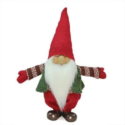 23 in. Red, Green and White Santa Gnome Christmas Tabletop Decoration