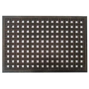 A1HC First Impression Estate 24 in. x 36 in. Rubber Stud Door Mat with Copper Finish