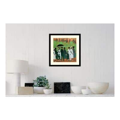 """20 in. H x 20 in. W """"Funeral Procession"""" by """" Ellis Wilson"""" Framed Print Wall Art"""