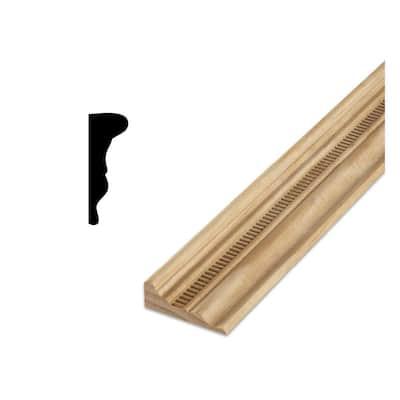DM 300 1-1/16 in. x 2-15/16 in. x 96 in. Pine Wood Chair Rail Embossed Ladder Moulding