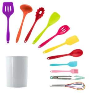 Mulit-Color Silicone Cooking Utensils (Set of 12)