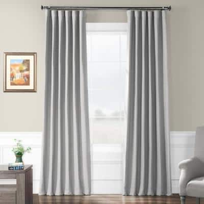 Vista Grey Rod Pocket Blackout Curtain - 50 in. W x 84 in. L