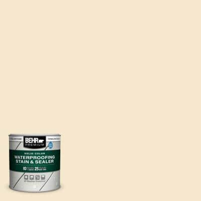 8 oz. White Base Solid Color Waterproofing Exterior Wood Stain and Sealer Sample