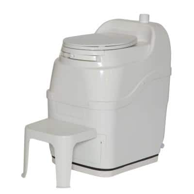 Spacesaver Electric Waterless Self Contained Composting Toilet in White