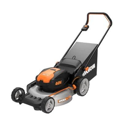 Power Share Nitro 40-Volt 20 in. 4.0 Ah Push Mower w/Mulching & Side Discharge, Brushless (Batteries & Charger Included)