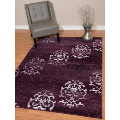 Purple 8 X 11 Area Rugs Rugs The Home Depot